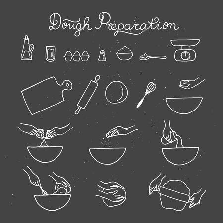 Baking process illustration.