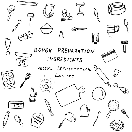Baking preparation icons