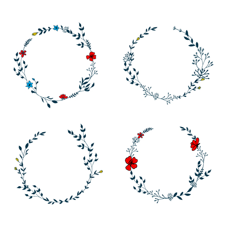 Delicate floral wreath collection set
