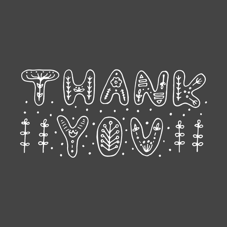 Thank you typography vector illustration 矢量图像