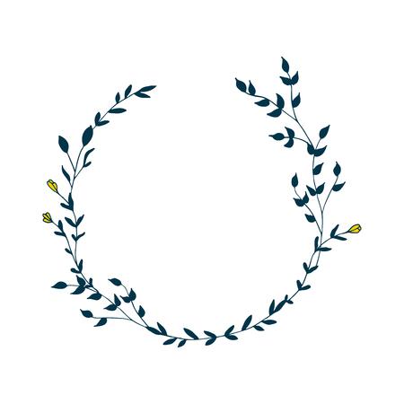 Delicate floral wreath vector illustration 矢量图像