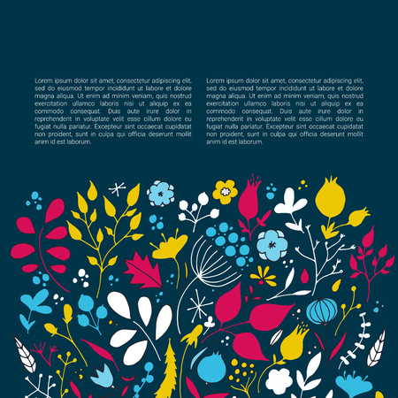 Design concept with flowers vector template.