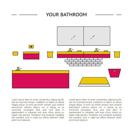 Bathroom Interior design concept vector illustration
