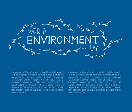 World Environment Day design concept Vector illustration. 矢量图像