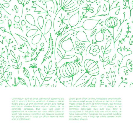 Hand drawn floral elements vector illustration 矢量图像