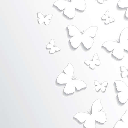 Abstract vector paper butterflies background Vektorové ilustrace