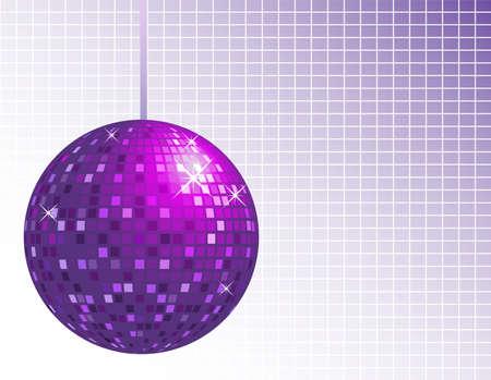 Purple disco ball background Vettoriali