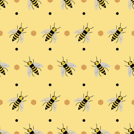 Repeat pattern with bee design