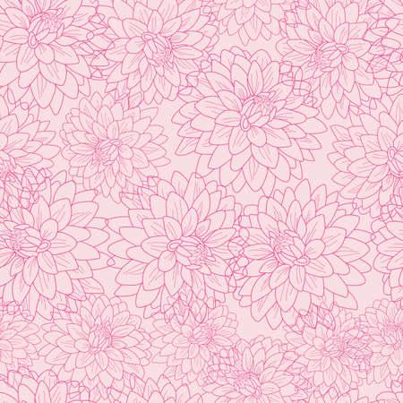Chrysanthemum flowers texture seamless vector pattern