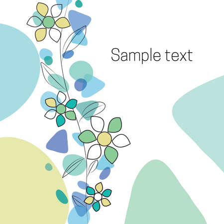Baby shower flowers background card
