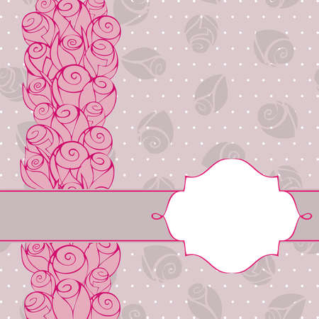 Vintage roses abstract greeting card background