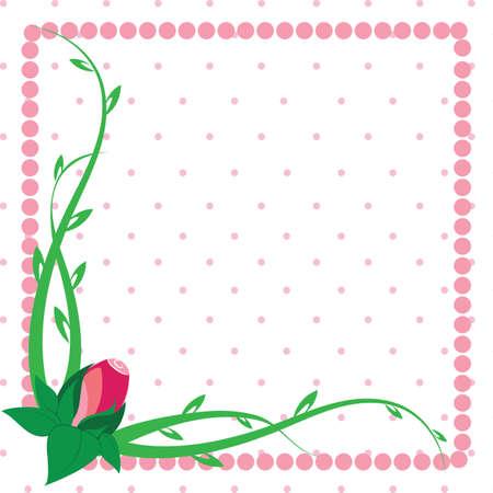 Rosebud flower frame greeting card