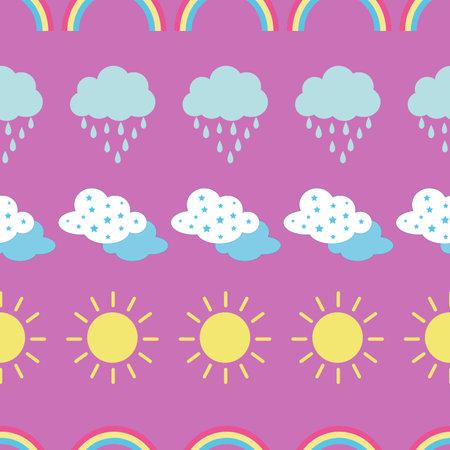 Seamless weather pattern illustration design