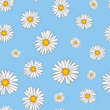 Seamless pattern design with daisy flower Vecteurs