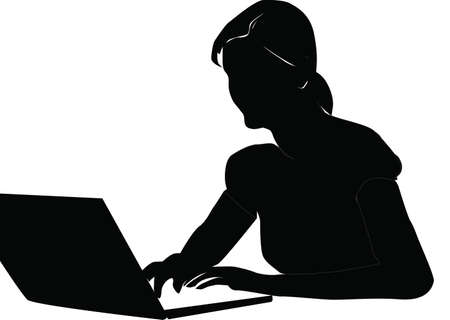 girl laptop: Freelancer2 Illustration