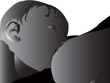 nursing mother: Breastfeeding