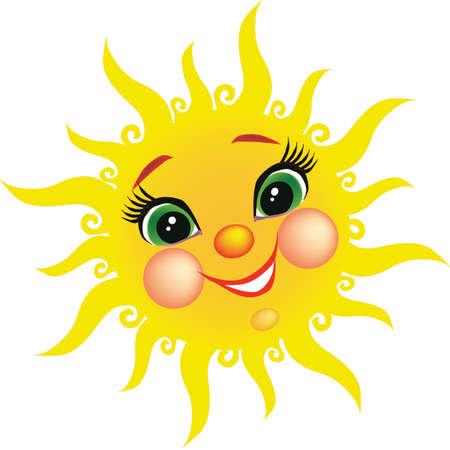 sun s: Vector immagine di Sun Adatto per i libri per bambini s