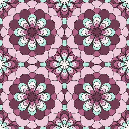 Abstract seamless pattern texture with floral elements. Vector illustrations. Ilustracja
