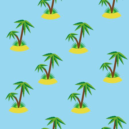 Palm tree seamless pattern background. Vector illustration 向量圖像