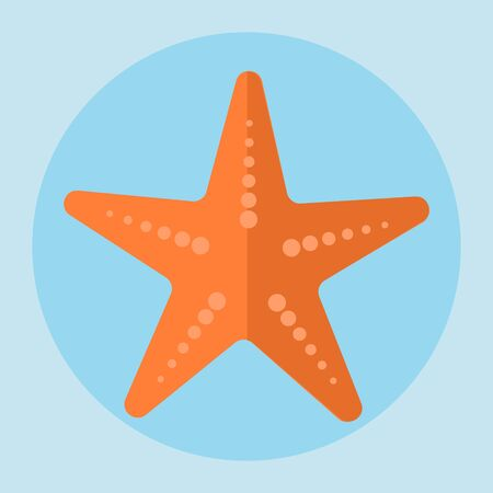 sea star: Sea star icon in flat style. Vector illustrations. Stock Photo