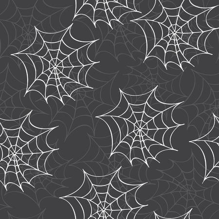 cobweb: Cobweb seamless pattern. Vector halloween background.
