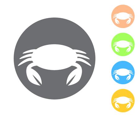 Crab icon. Vector illustrations.