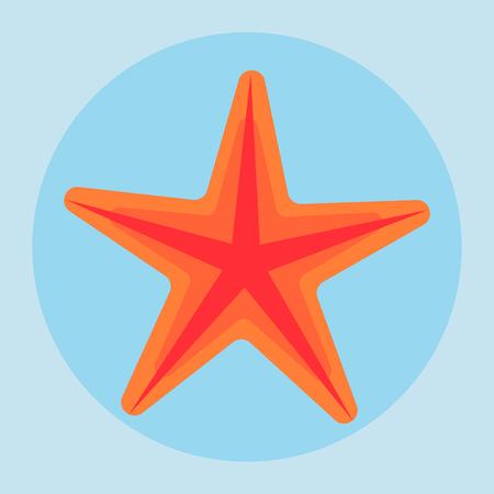 sea star: Sea star icon in flat style. Vector illustrations. Illustration