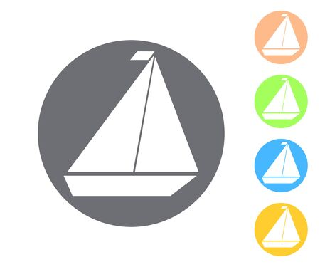 Vector icon of yacht vector illustration