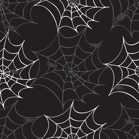Cobweb seamless pattern. Vector halloween background. 版權商用圖片 - 43393954