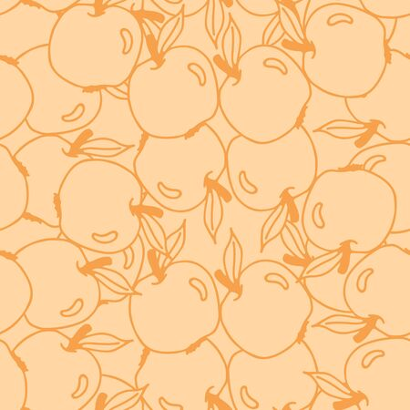 green apples: Seamless pattern with red and green apples. Hand drawing vector illustration