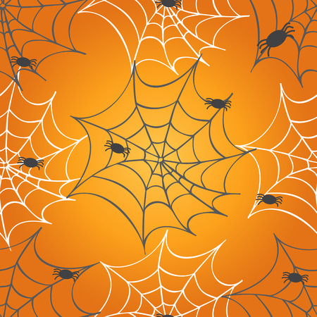 Cobweb seamless pattern. Vector halloween background.