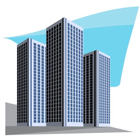 небоскребы: Город небоскребов векторные иллюстрации Иллюстрация