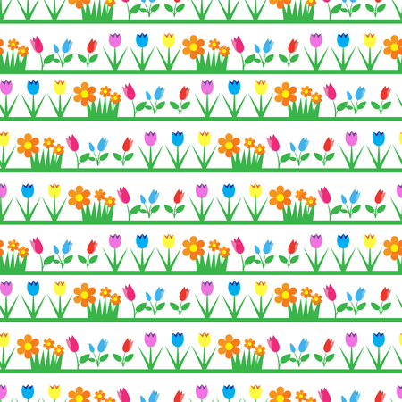 indoor bud: Floral seamless pattern background. Vector illustration