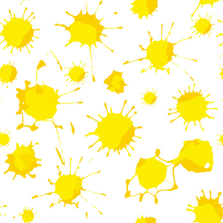 slur: Yellow blots seamless pattern background. Vector illustrations.
