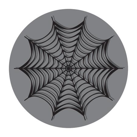 spiderweb: Spiderweb icon with shadow  . Flat design vector illustration
