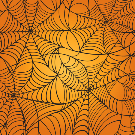 gossamer: Cobweb seamless pattern. Halloween Holiday Background.  Vector illustrations.
