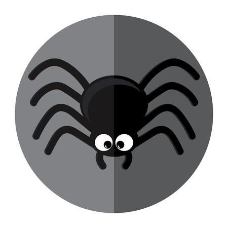 Spider-pictogram. Platte ontwerp vector illustratie Stock Illustratie