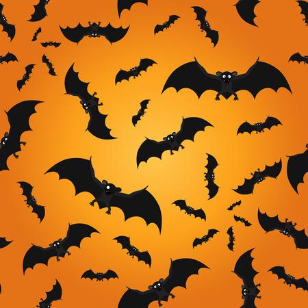rear wing: Bat seamless pattern Halloween background. Vector illustration