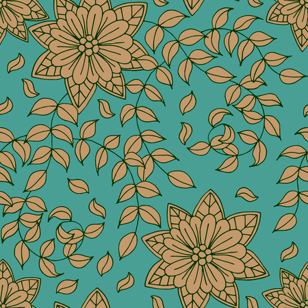 artistic flower: Floral  seamless pattern background, Vector illustrations.