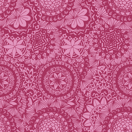 textur: Seamless lace hand-drawn pattern. Floral background. Vector illustrations. Illustration