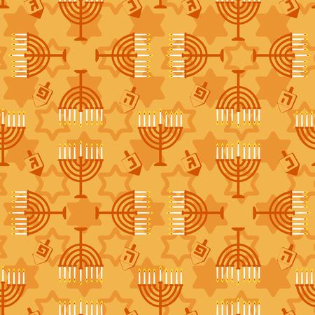 hanuka: Hanukkah seamless pattern. Background with Hanukkah candles . Vector illustration for jewish holiday Hanukkah