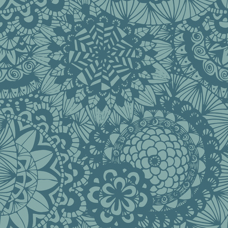 Seamless lace hand-drawn pattern. Floral background.