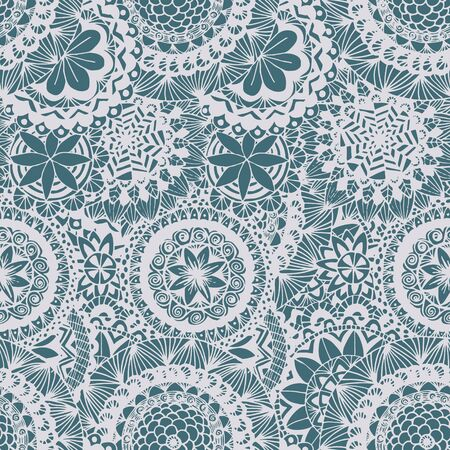 textur: Seamless lace hand-drawn pattern. Floral background.