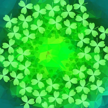 patrik: St. Patricks day background in green colors. Vector illustration. Illustration