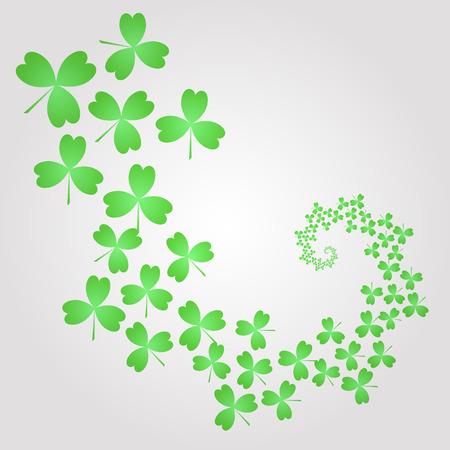 patrik: Clover leaves on gray background. Vector design elements. Vector illustration. Illustration