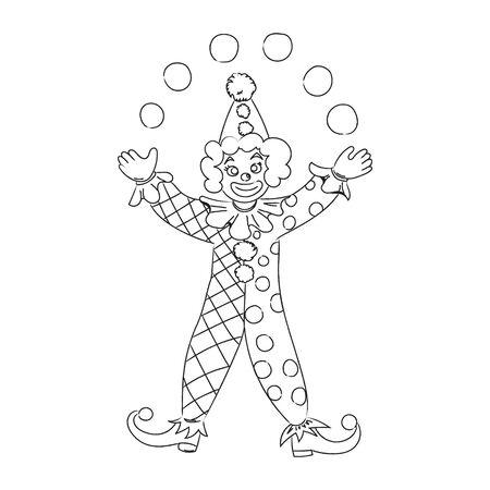 Hand drawn clown. Sketch. Illusztráció