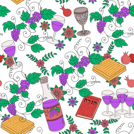 seder: Passover seamless pattern background Illustration