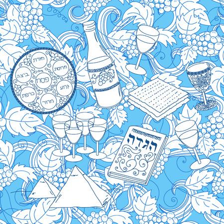 passover: Passover seamless pattern background Illustration