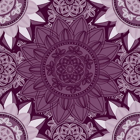 walpaper: Vintage seamless pattern background. Mandala pattern, floral circle decorative ornament. Arabic, islam, indian, turkish, pakistan, ottoman, asian motifs. Seamless pattern can be used for wallpaper, textile, fabric, wrapping, surface textures for design. V