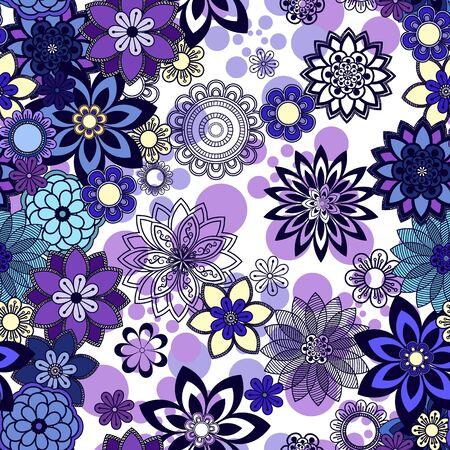 ornamente: Mandala pattern, floral elements, decorative ornament. Seamless pattern background.  Arab, Asian, ottoman motifs. Vector illustration